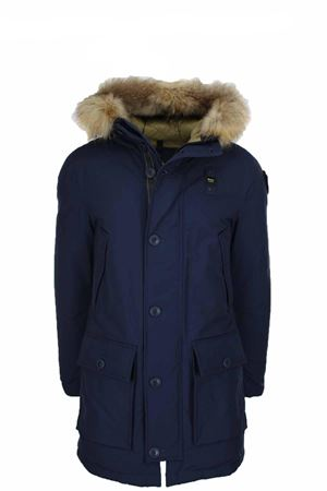 Parka with hood and fur trim BLAUER | -438152340 | BLUK03239005565888