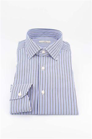 Camicia manica lunga cotone G.H.R. | -880150793 | P168B508GH71602