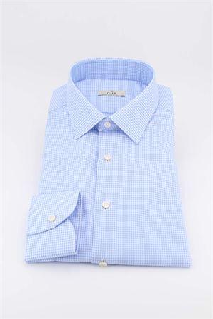 Camicia manica lunga cotone microfantasia G.H.R. | -880150793 | P168B508GHE60202