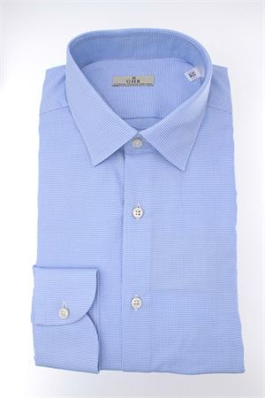 Camicia manica lunga cotone microfantasia G.H.R. | -880150793 | P168B508GHE60602