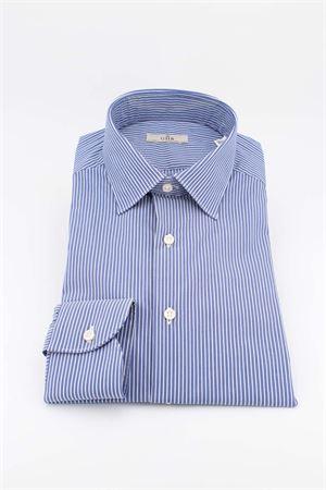 Camicia manica lunga cotone righe G.H.R. | -880150793 | P168B508GHE61606