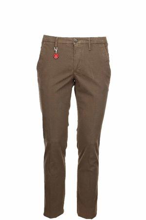 Pantalone cotone microfantasia stretch Manuel Ritz | 146780591 | 2732P1888T19381726