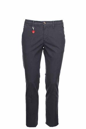 Pantalone cotone microfantasia stretch Manuel Ritz | 146780591 | 2732P1888T19381798
