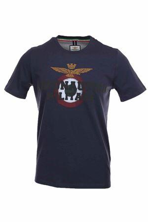 T-shirt mezza manica maxi logo Aeronautica Militare | 34 | TS1617-08184