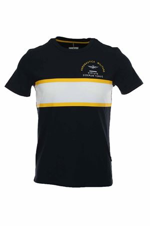 T-shirt mezza manica banda centrale Aeronautica Militare | 34 | TS1703-08184