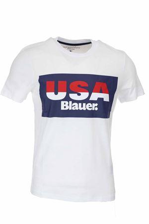 T-shirt mezza manica stampa USA Blauer BLAUER | 34 | BLUH02158004547100