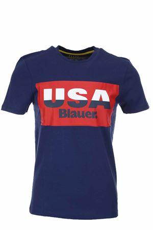T-shirt mezza manica stampa USA Blauer BLAUER | 34 | BLUH02158004547868