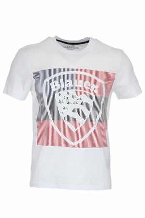 T-shirt mezza manica maxi scudetto BLAUER | 34 | BLUH02179004547100