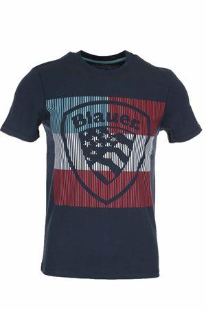 T-shirt mezza manica maxi scudetto BLAUER | 34 | BLUH02179004547892