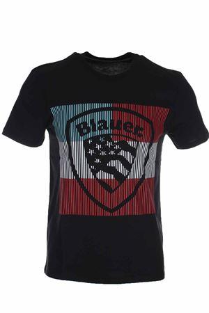 T-shirt mezza manica maxi scudetto BLAUER | 34 | BLUH02179004547999