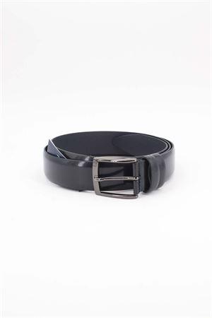 Cintura classica in vitello spazzolato HeGO | -1561109086 | 40735BLU