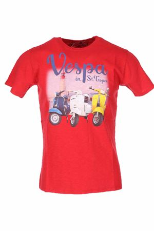 T-shirt mezza manica Vespa in Saint Tropez Saint Barth MC2 | 34 | TSHM001VPTR41