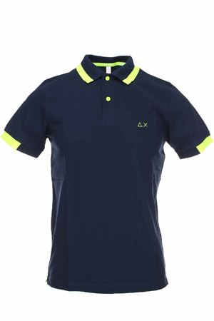 Polo half-sleeved piquet edges fluo SUN68 | 34 | A30115-07