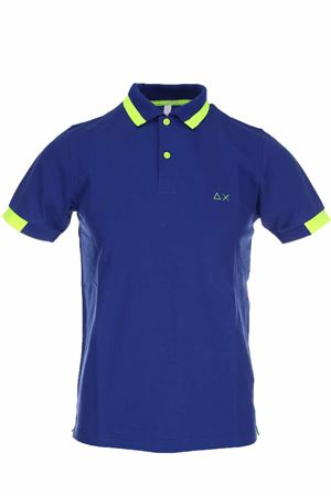 Polo mezza manica piquet bordi fluo SUN68 | 34 | A30115-58