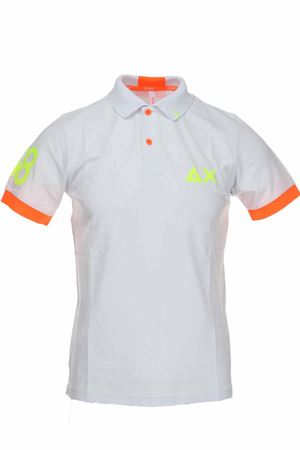 Polo mezza manica piquet 68 bordi fluo SUN68 | 34 | A30116-01