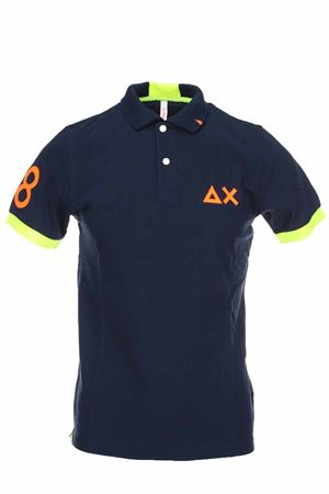 Polo half-sleeved piquet 68 fluo edges SUN68 | 34 | A30116-07