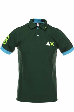 Polo half-sleeved piquet 68 fluo edges SUN68 | 34 | A30116-37