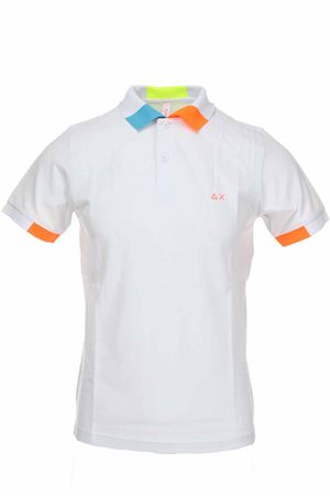 Polo mezza manica piquet bordi fluo SUN68 | 34 | A30117-01