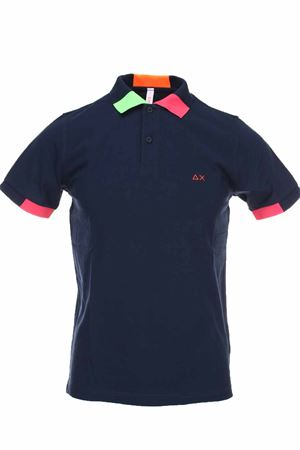 Polo half-sleeved piquet edges fluo SUN68 | 34 | A30117-07