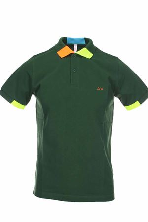 Polo half-sleeved piquet edges fluo SUN68 | 34 | A30117-37