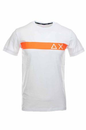 T-shirt half-sleeved fluo logo SUN68 | 34 | T30106-01