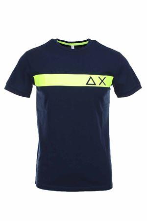 T-shirt mezza manica logo fluo SUN68 | 34 | T30106-07