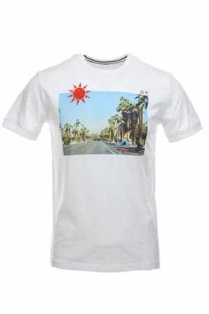 T-shirt half-sleeve print and embroidery SUN68 | 34 | T30107-0113