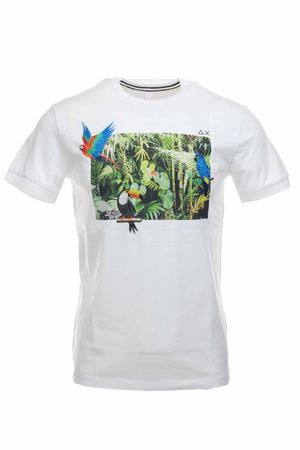 T-shirt half-sleeve print and embroidery SUN68 | 34 | T30107-0137