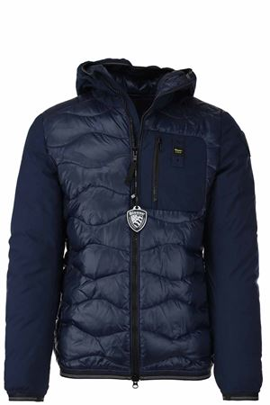 Double-fabric down jacket bomber jacket BLAUER | 925341562 | BLUC08105005480888