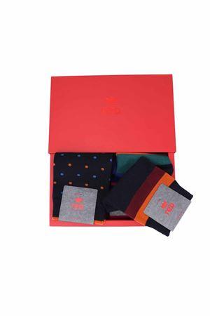 Cofanetto regalo due paia calze righe e pois RED | 796998705 | 64816G2902R4
