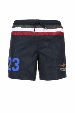Costume boxer mare bande orizzontali multicolor Aeronautica Militare | 36 | BW199-08184
