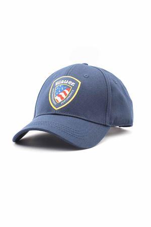 Cappello con visiera in cotone BLAUER | -1033670417 | BLUA04427005351892