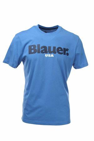 T-shirt mezza manica con scritta BLAUER | 34 | BLUH02128004547801