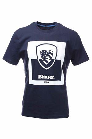 T-shirt mezza manica con logo BLAUER | 34 | BLUH02131004547802