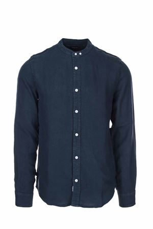 Camicia lino manica lunga collo coreana BLAUER | -880150793 | BLUS01217005999802