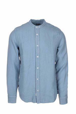 Camicia lino manica lunga collo coreana BLAUER | -880150793 | BLUS01217005999840