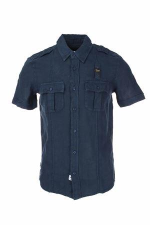 Camicia mezza manica lino BLAUER | -880150793 | BLUS02222005999802