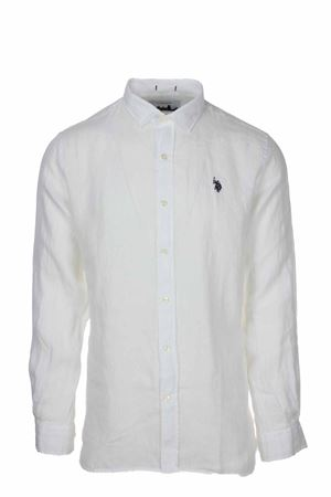Camicia manica lunga lino US Polo Assn | -880150793 | 6040750816100