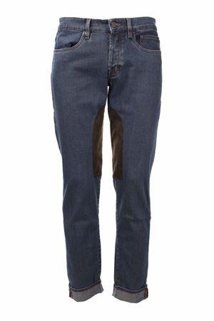 Jeans denim 5 tasche toppe in alcantara Siviglia | 4 | NQ2007D0050M260