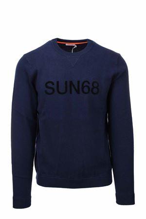 Pullover girocollo in lana e cotone taglio felpa SUN68 | 435618598 | K41116-07