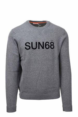 Pullover girocollo in lana e cotone taglio felpa SUN68 | 435618598 | K41116-34