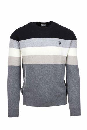 Multicolor striped crew-neck sweater US Polo Assn | 435618598 | 6092652934789