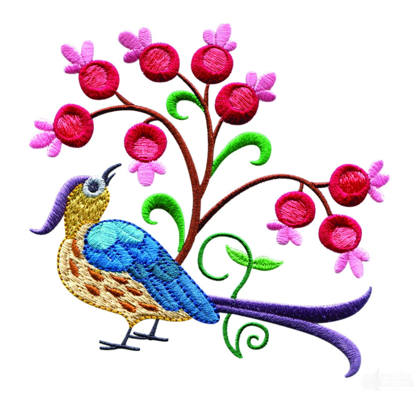 a birds paradise jf304 embroidery design