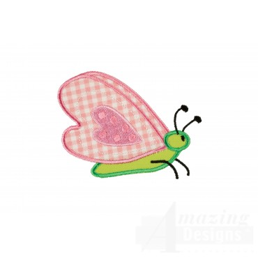 Butterfly 2 Happy Day Applique Embroidery Design