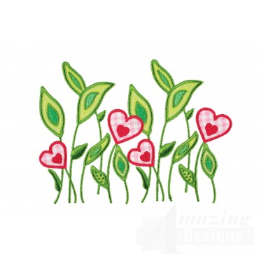 Field Flowers Happy Day Applique Embroidery Design
