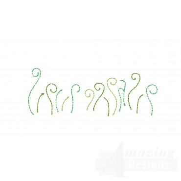 Grass Line Happy Day Applique Embroidery Design