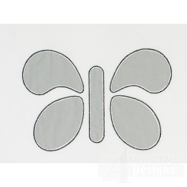 Butterfly Reverse Applique Embroidery Design