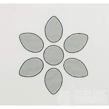 Teardrop Flower 2 Applique Embroidery Design