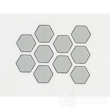 Hexagon Pattern Reverse Applique Embroidery Design