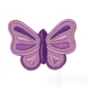 Butterfly In-the-hoop Keychain Embroidery Design
